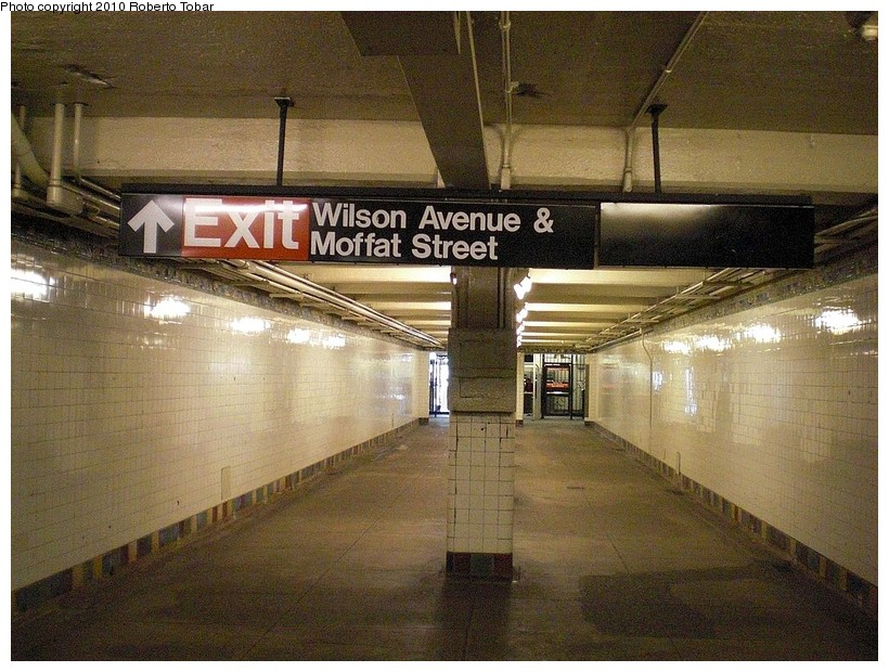 (212k, 820x620)<br><b>Country:</b> United States<br><b>City:</b> New York<br><b>System:</b> New York City Transit<br><b>Line:</b> BMT Canarsie Line<br><b>Location:</b> Wilson Avenue <br><b>Photo by:</b> Roberto C. Tobar<br><b>Date:</b> 3/27/2010<br><b>Notes:</b> Lower level.<br><b>Viewed (this week/total):</b> 0 / 1392