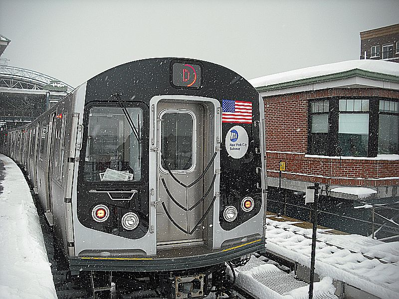 (172k, 800x600)<br><b>Country:</b> United States<br><b>City:</b> New York<br><b>System:</b> New York City Transit<br><b>Location:</b> Coney Island/Stillwell Avenue<br><b>Route:</b> D<br><b>Car:</b> R-160A/R-160B Series (Number Unknown)  <br><b>Photo by:</b> Alize Jarrett<br><b>Date:</b> 2/26/2010<br><b>Viewed (this week/total):</b> 4 / 983