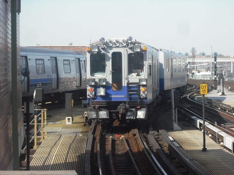 (92k, 800x600)<br><b>Country:</b> United States<br><b>City:</b> New York<br><b>System:</b> New York City Transit<br><b>Location:</b> Coney Island/Stillwell Avenue<br><b>Route:</b> Work Service<br><b>Car:</b> Track Geometry Car  <br><b>Photo by:</b> Alize Jarrett<br><b>Date:</b> 3/19/2010<br><b>Viewed (this week/total):</b> 5 / 1533