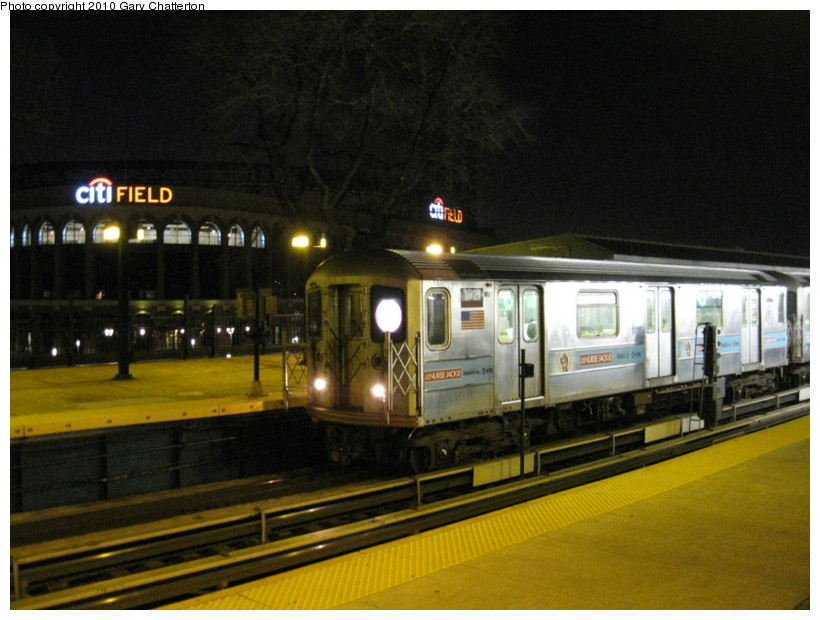 (131k, 820x620)<br><b>Country:</b> United States<br><b>City:</b> New York<br><b>System:</b> New York City Transit<br><b>Line:</b> IRT Flushing Line<br><b>Location:</b> Willets Point/Mets (fmr. Shea Stadium) <br><b>Route:</b> 7<br><b>Car:</b> R-62A (Bombardier, 1984-1987)  1821 <br><b>Photo by:</b> Gary Chatterton<br><b>Date:</b> 3/21/2010<br><b>Viewed (this week/total):</b> 0 / 1148