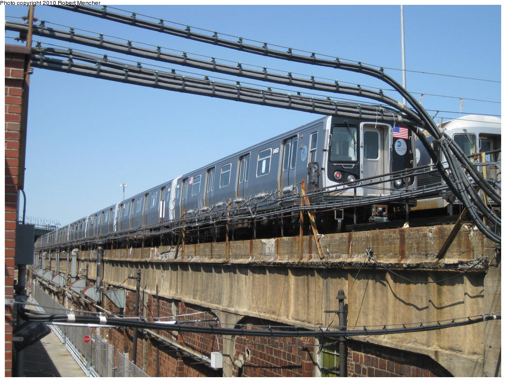 (274k, 1044x788)<br><b>Country:</b> United States<br><b>City:</b> New York<br><b>System:</b> New York City Transit<br><b>Location:</b> East New York Yard/Shops<br><b>Car:</b> R-160A-1 (Alstom, 2005-2008, 4 car sets)  8460 <br><b>Photo by:</b> Robert Mencher<br><b>Date:</b> 4/4/2010<br><b>Viewed (this week/total):</b> 2 / 530
