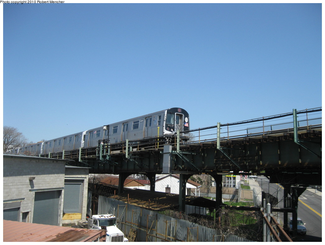 (188k, 1044x788)<br><b>Country:</b> United States<br><b>City:</b> New York<br><b>System:</b> New York City Transit<br><b>Line:</b> BMT Canarsie Line<br><b>Location:</b> Broadway Junction <br><b>Route:</b> L<br><b>Car:</b> R-143 (Kawasaki, 2001-2002) 8309 <br><b>Photo by:</b> Robert Mencher<br><b>Date:</b> 4/4/2010<br><b>Viewed (this week/total):</b> 0 / 465