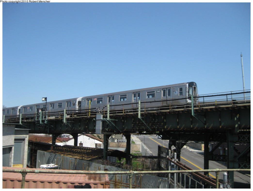 (172k, 1044x788)<br><b>Country:</b> United States<br><b>City:</b> New York<br><b>System:</b> New York City Transit<br><b>Line:</b> BMT Canarsie Line<br><b>Location:</b> Broadway Junction <br><b>Route:</b> L<br><b>Car:</b> R-143 (Kawasaki, 2001-2002) 8158 <br><b>Photo by:</b> Robert Mencher<br><b>Date:</b> 4/4/2010<br><b>Viewed (this week/total):</b> 4 / 581