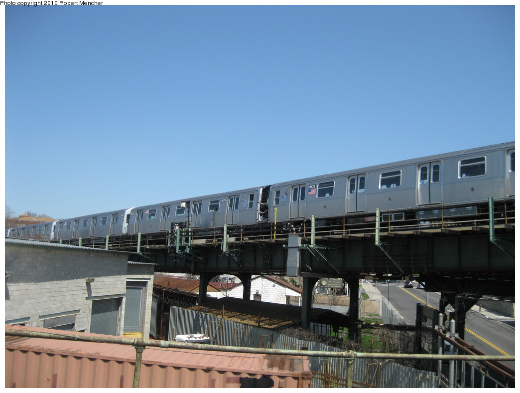 (188k, 1044x788)<br><b>Country:</b> United States<br><b>City:</b> New York<br><b>System:</b> New York City Transit<br><b>Line:</b> BMT Canarsie Line<br><b>Location:</b> Broadway Junction <br><b>Route:</b> L<br><b>Car:</b> R-143 (Kawasaki, 2001-2002) 8273 <br><b>Photo by:</b> Robert Mencher<br><b>Date:</b> 4/4/2010<br><b>Viewed (this week/total):</b> 1 / 422