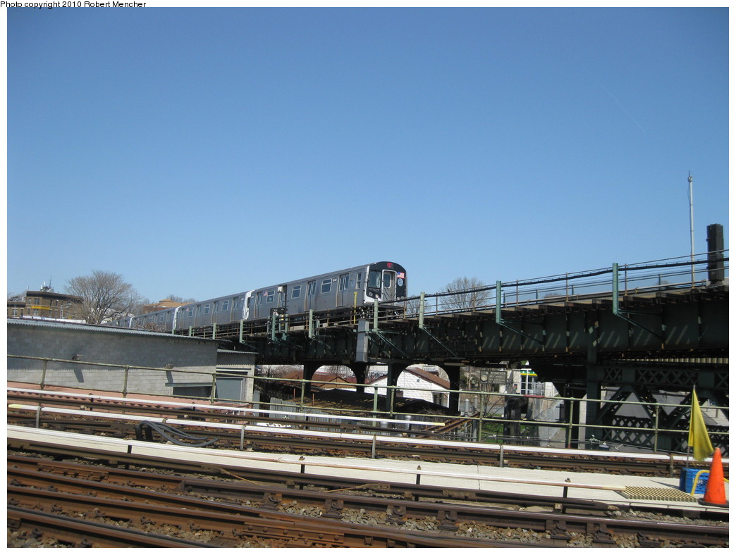 (205k, 1044x788)<br><b>Country:</b> United States<br><b>City:</b> New York<br><b>System:</b> New York City Transit<br><b>Line:</b> BMT Canarsie Line<br><b>Location:</b> Broadway Junction <br><b>Route:</b> L<br><b>Car:</b> R-160A-1 (Alstom, 2005-2008, 4 car sets)  8340 <br><b>Photo by:</b> Robert Mencher<br><b>Date:</b> 4/4/2010<br><b>Viewed (this week/total):</b> 2 / 810