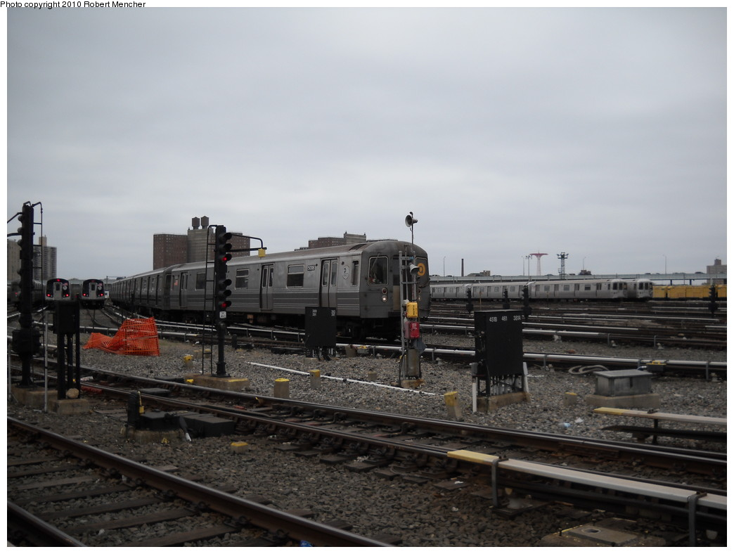 (197k, 1044x788)<br><b>Country:</b> United States<br><b>City:</b> New York<br><b>System:</b> New York City Transit<br><b>Location:</b> Coney Island Yard<br><b>Car:</b> R-68A (Kawasaki, 1988-1989)  5006 <br><b>Photo by:</b> Robert Mencher<br><b>Date:</b> 4/16/2010<br><b>Viewed (this week/total):</b> 1 / 415