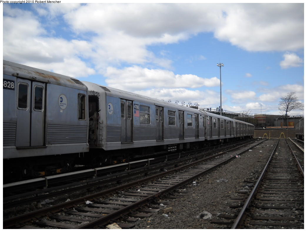 (215k, 1044x788)<br><b>Country:</b> United States<br><b>City:</b> New York<br><b>System:</b> New York City Transit<br><b>Location:</b> East New York Yard/Shops<br><b>Car:</b> R-42 (St. Louis, 1969-1970)  4798 <br><b>Photo by:</b> Robert Mencher<br><b>Date:</b> 4/18/2010<br><b>Viewed (this week/total):</b> 2 / 316