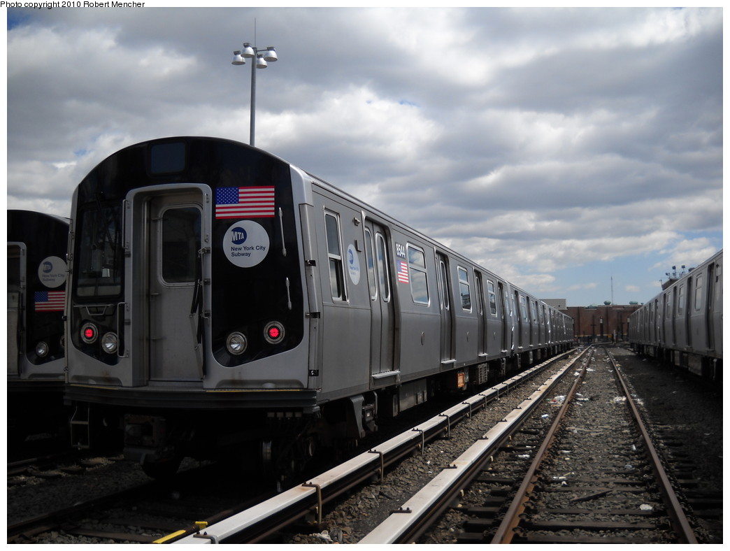 (208k, 1044x788)<br><b>Country:</b> United States<br><b>City:</b> New York<br><b>System:</b> New York City Transit<br><b>Location:</b> East New York Yard/Shops<br><b>Car:</b> R-160A-1 (Alstom, 2005-2008, 4 car sets)  8544 <br><b>Photo by:</b> Robert Mencher<br><b>Date:</b> 4/18/2010<br><b>Viewed (this week/total):</b> 3 / 182