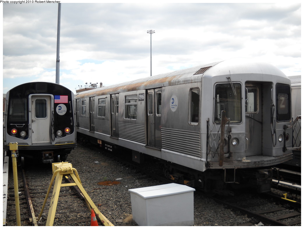 (208k, 1044x788)<br><b>Country:</b> United States<br><b>City:</b> New York<br><b>System:</b> New York City Transit<br><b>Location:</b> East New York Yard/Shops<br><b>Car:</b> R-42 (St. Louis, 1969-1970)  4815 <br><b>Photo by:</b> Robert Mencher<br><b>Date:</b> 4/18/2010<br><b>Viewed (this week/total):</b> 1 / 483