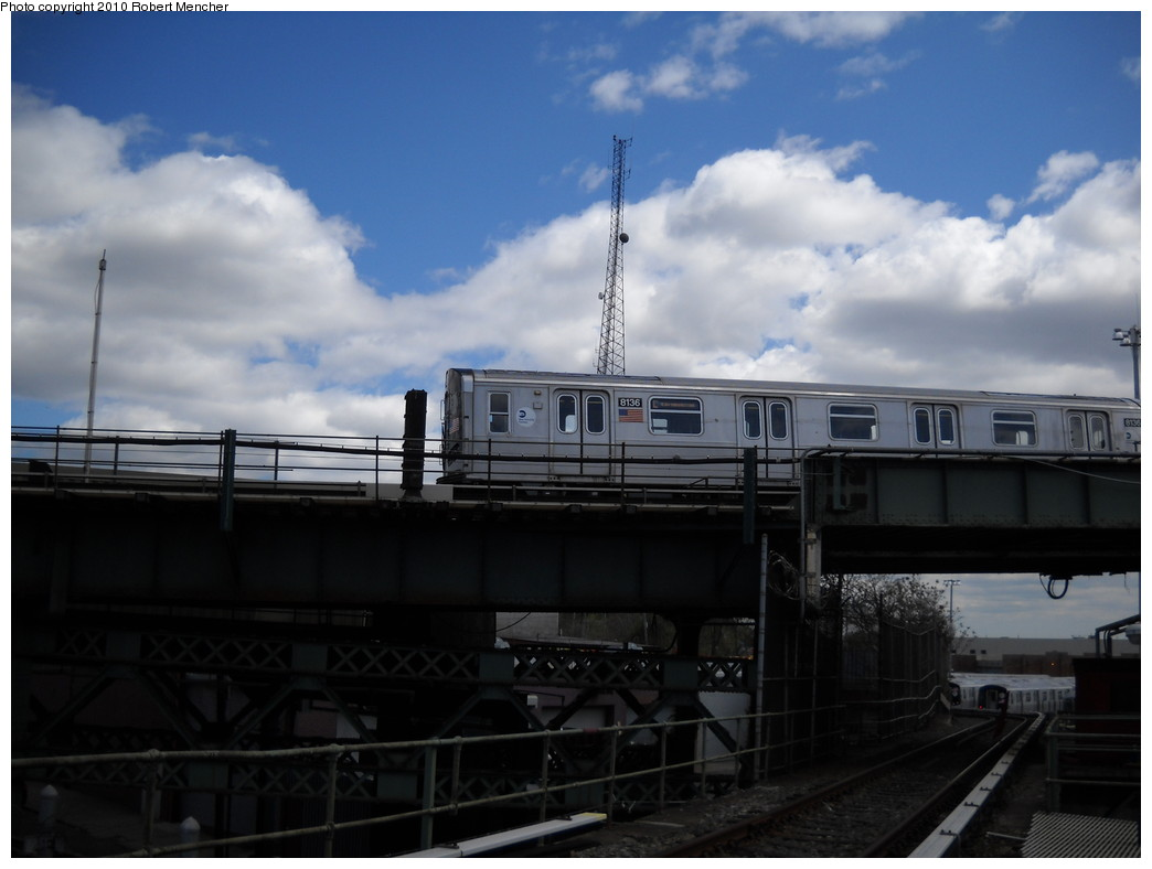(176k, 1044x788)<br><b>Country:</b> United States<br><b>City:</b> New York<br><b>System:</b> New York City Transit<br><b>Line:</b> BMT Canarsie Line<br><b>Location:</b> Broadway Junction <br><b>Route:</b> L<br><b>Car:</b> R-143 (Kawasaki, 2001-2002) 8136 <br><b>Photo by:</b> Robert Mencher<br><b>Date:</b> 4/18/2010<br><b>Viewed (this week/total):</b> 1 / 409