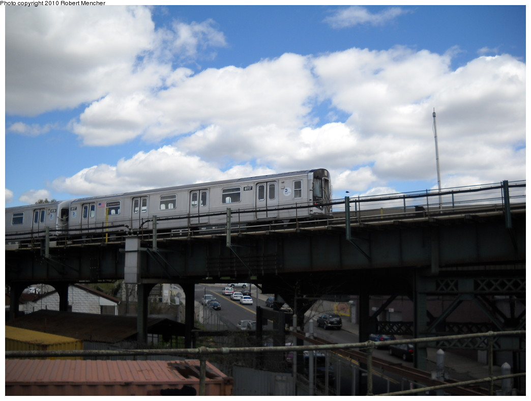 (183k, 1044x788)<br><b>Country:</b> United States<br><b>City:</b> New York<br><b>System:</b> New York City Transit<br><b>Line:</b> BMT Canarsie Line<br><b>Location:</b> Broadway Junction <br><b>Route:</b> L<br><b>Car:</b> R-143 (Kawasaki, 2001-2002) 8117 <br><b>Photo by:</b> Robert Mencher<br><b>Date:</b> 4/18/2010<br><b>Viewed (this week/total):</b> 1 / 420