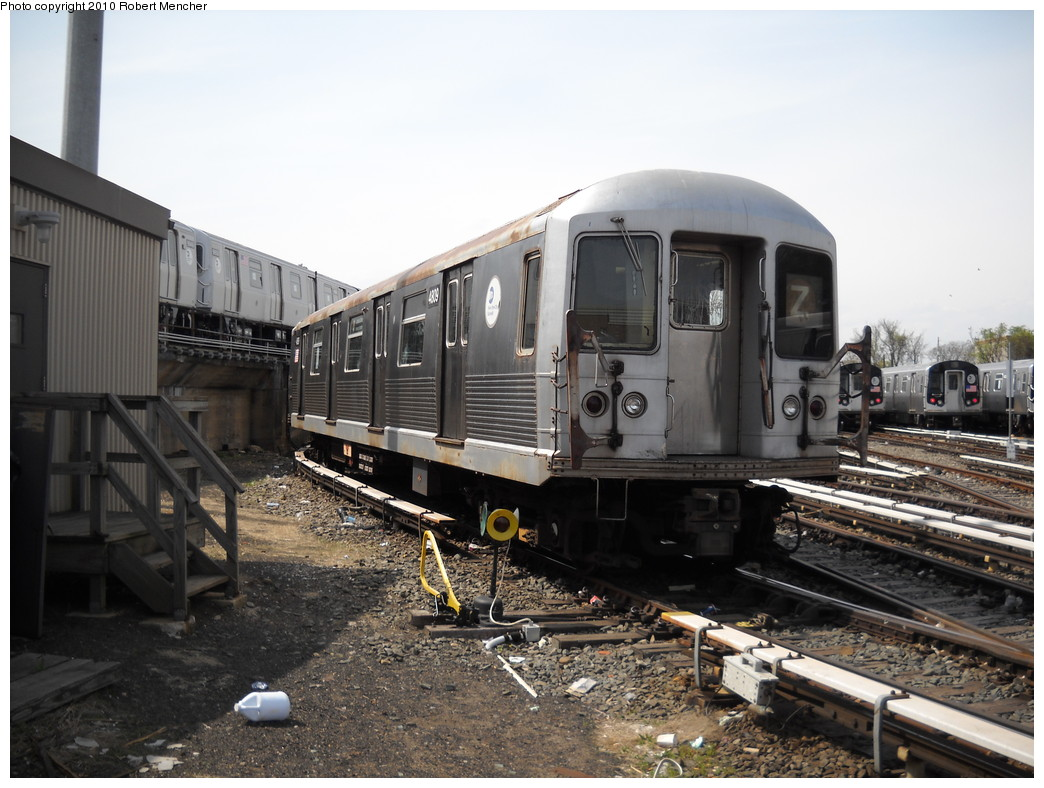 (244k, 1044x788)<br><b>Country:</b> United States<br><b>City:</b> New York<br><b>System:</b> New York City Transit<br><b>Location:</b> East New York Yard/Shops<br><b>Car:</b> R-42 (St. Louis, 1969-1970)  4809 <br><b>Photo by:</b> Robert Mencher<br><b>Date:</b> 4/21/2010<br><b>Viewed (this week/total):</b> 0 / 361