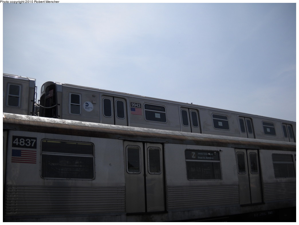(142k, 1044x788)<br><b>Country:</b> United States<br><b>City:</b> New York<br><b>System:</b> New York City Transit<br><b>Location:</b> East New York Yard/Shops<br><b>Car:</b> R-160A (Option 2) (Alstom, 2009, 4-car sets)  9943 <br><b>Photo by:</b> Robert Mencher<br><b>Date:</b> 4/21/2010<br><b>Viewed (this week/total):</b> 1 / 1746