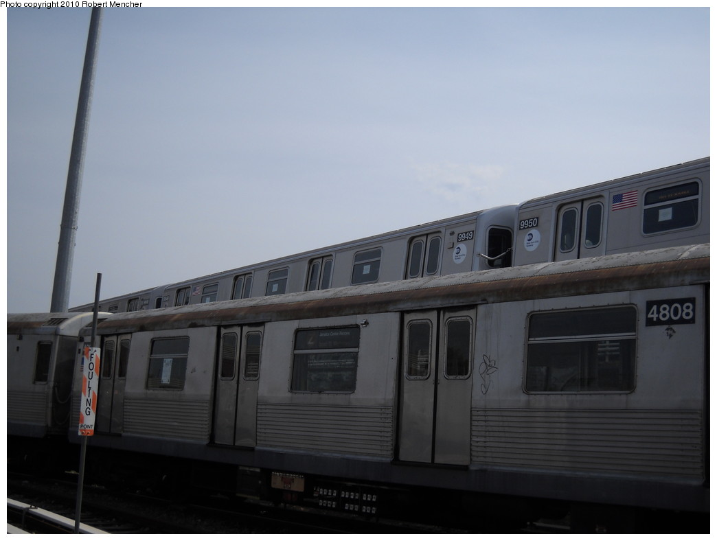 (147k, 1044x788)<br><b>Country:</b> United States<br><b>City:</b> New York<br><b>System:</b> New York City Transit<br><b>Location:</b> East New York Yard/Shops<br><b>Car:</b> R-160A (Option 2) (Alstom, 2009, 4-car sets)  9949 <br><b>Photo by:</b> Robert Mencher<br><b>Date:</b> 4/21/2010<br><b>Viewed (this week/total):</b> 0 / 970
