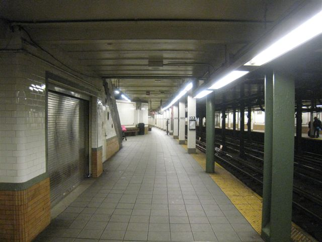 (51k, 640x480)<br><b>Country:</b> United States<br><b>City:</b> New York<br><b>System:</b> New York City Transit<br><b>Line:</b> IRT West Side Line<br><b>Location:</b> 103rd Street <br><b>Photo by:</b> David Blair<br><b>Date:</b> 4/1/2008<br><b>Viewed (this week/total):</b> 3 / 861