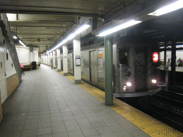 (54k, 640x480)<br><b>Country:</b> United States<br><b>City:</b> New York<br><b>System:</b> New York City Transit<br><b>Line:</b> IRT West Side Line<br><b>Location:</b> 103rd Street <br><b>Photo by:</b> David Blair<br><b>Date:</b> 4/1/2008<br><b>Viewed (this week/total):</b> 4 / 516