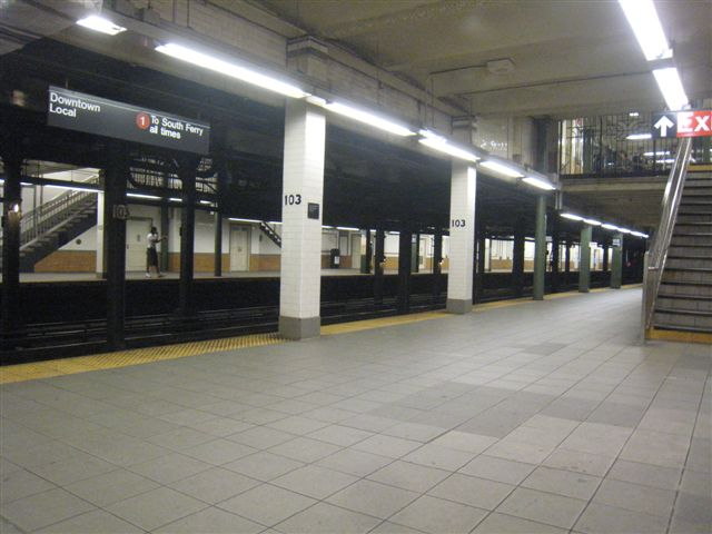 (52k, 640x480)<br><b>Country:</b> United States<br><b>City:</b> New York<br><b>System:</b> New York City Transit<br><b>Line:</b> IRT West Side Line<br><b>Location:</b> 103rd Street <br><b>Photo by:</b> David Blair<br><b>Date:</b> 7/10/2009<br><b>Viewed (this week/total):</b> 1 / 523