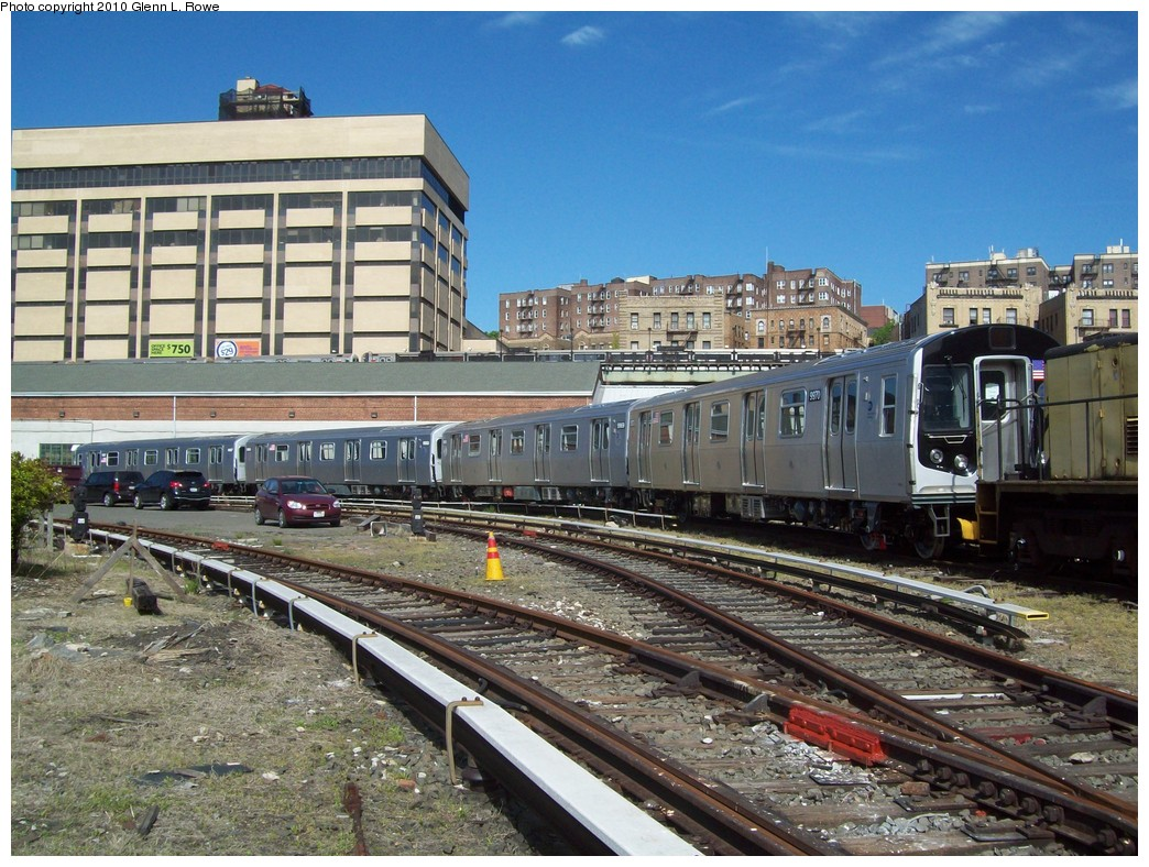 (281k, 1044x788)<br><b>Country:</b> United States<br><b>City:</b> New York<br><b>System:</b> New York City Transit<br><b>Location:</b> 207th Street Yard<br><b>Car:</b> R-160A (Option 2) (Alstom, 2009, 4-car sets)  9970 <br><b>Photo by:</b> Glenn L. Rowe<br><b>Date:</b> 4/29/2010<br><b>Viewed (this week/total):</b> 2 / 1740