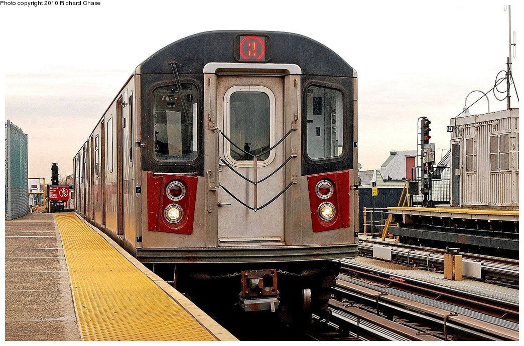 (253k, 1044x691)<br><b>Country:</b> United States<br><b>City:</b> New York<br><b>System:</b> New York City Transit<br><b>Line:</b> IRT White Plains Road Line<br><b>Location:</b> 238th Street (Nereid Avenue) <br><b>Route:</b> 2<br><b>Car:</b> R-142 or R-142A (Number Unknown)  <br><b>Photo by:</b> Richard Chase<br><b>Date:</b> 3/25/2010<br><b>Viewed (this week/total):</b> 3 / 515