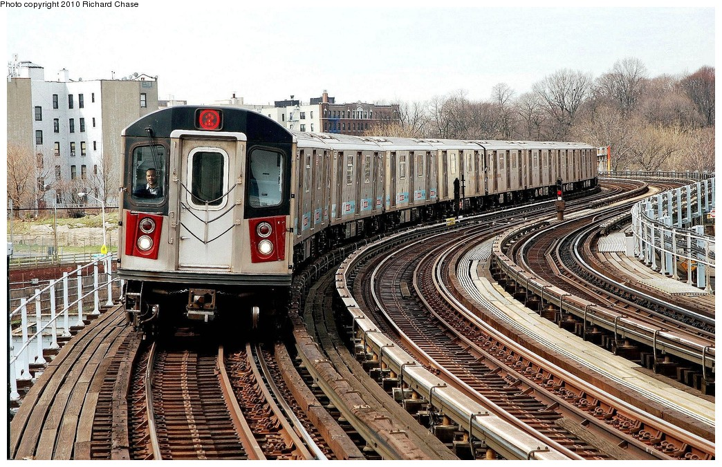 (309k, 1044x676)<br><b>Country:</b> United States<br><b>City:</b> New York<br><b>System:</b> New York City Transit<br><b>Line:</b> IRT White Plains Road Line<br><b>Location:</b> West Farms Sq./East Tremont Ave./177th St. <br><b>Route:</b> 2<br><b>Car:</b> R-142 or R-142A (Number Unknown)  <br><b>Photo by:</b> Richard Chase<br><b>Date:</b> 3/25/2010<br><b>Viewed (this week/total):</b> 12 / 640