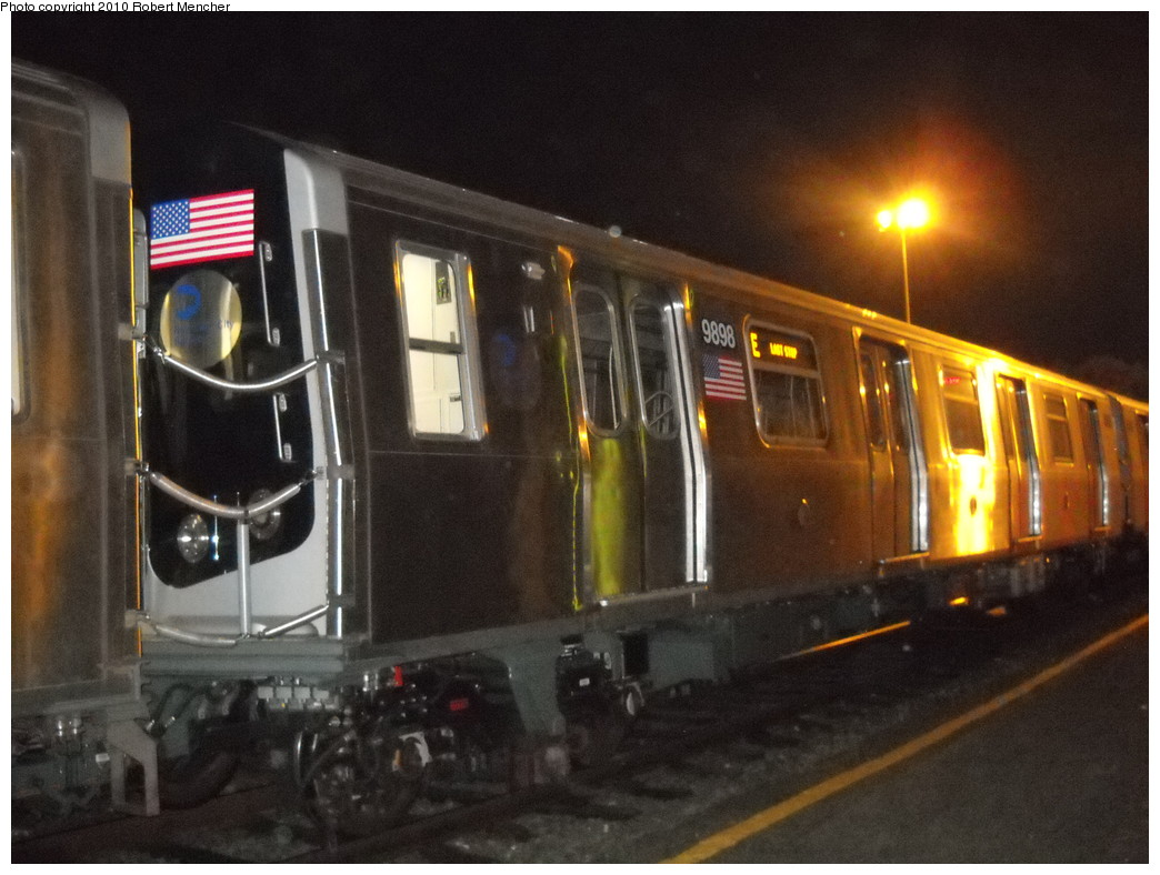 (233k, 1044x788)<br><b>Country:</b> United States<br><b>City:</b> New York<br><b>System:</b> New York City Transit<br><b>Location:</b> Jamaica Yard/Shops<br><b>Car:</b> R-160B (Option 2) (Kawasaki, 2009)  9898 <br><b>Photo by:</b> Robert Mencher<br><b>Date:</b> 4/30/2010<br><b>Viewed (this week/total):</b> 0 / 953