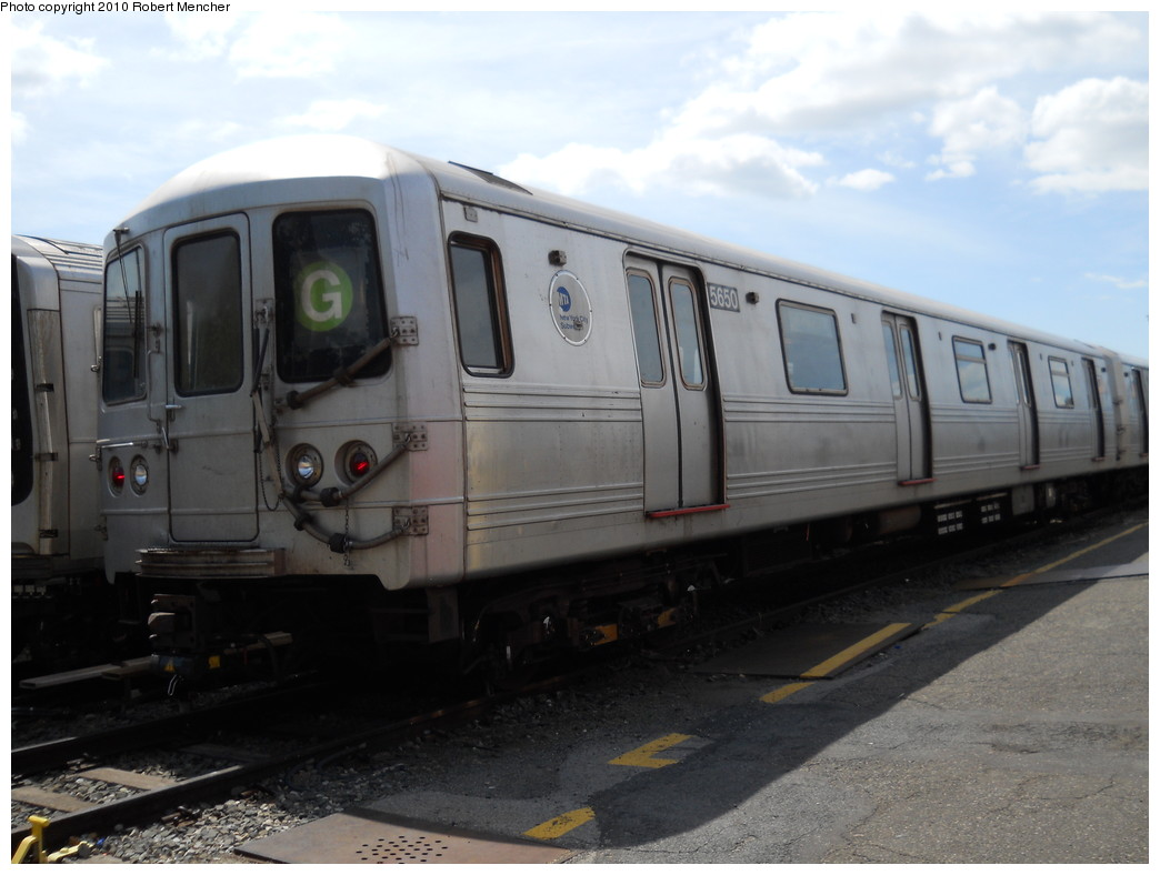 (216k, 1044x788)<br><b>Country:</b> United States<br><b>City:</b> New York<br><b>System:</b> New York City Transit<br><b>Location:</b> Jamaica Yard/Shops<br><b>Car:</b> R-46 (Pullman-Standard, 1974-75) 5650 <br><b>Photo by:</b> Robert Mencher<br><b>Date:</b> 5/15/2010<br><b>Viewed (this week/total):</b> 0 / 1028