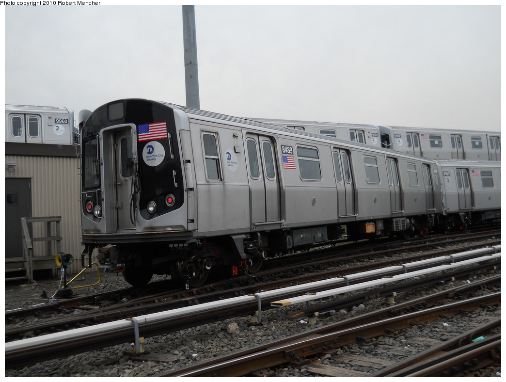(238k, 1044x788)<br><b>Country:</b> United States<br><b>City:</b> New York<br><b>System:</b> New York City Transit<br><b>Location:</b> East New York Yard/Shops<br><b>Car:</b> R-160A-1 (Alstom, 2005-2008, 4 car sets)  8489 <br><b>Photo by:</b> Robert Mencher<br><b>Date:</b> 5/17/2010<br><b>Viewed (this week/total):</b> 0 / 263