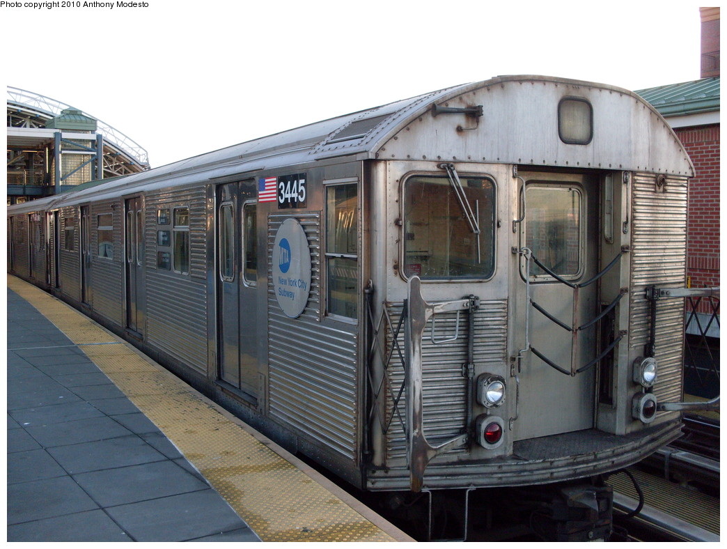 (258k, 1044x788)<br><b>Country:</b> United States<br><b>City:</b> New York<br><b>System:</b> New York City Transit<br><b>Location:</b> Coney Island/Stillwell Avenue<br><b>Route:</b> F<br><b>Car:</b> R-32 (Budd, 1964)  3445 <br><b>Photo by:</b> Anthony Modesto<br><b>Date:</b> 2/16/2009<br><b>Viewed (this week/total):</b> 1 / 700