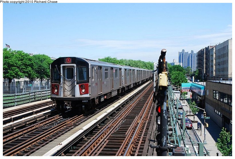 (169k, 820x555)<br><b>Country:</b> United States<br><b>City:</b> New York<br><b>System:</b> New York City Transit<br><b>Line:</b> IRT Woodlawn Line<br><b>Location:</b> Kingsbridge Road <br><b>Route:</b> 4<br><b>Car:</b> R-142 or R-142A (Number Unknown)  <br><b>Photo by:</b> Richard Chase<br><b>Date:</b> 5/8/2010<br><b>Viewed (this week/total):</b> 0 / 586