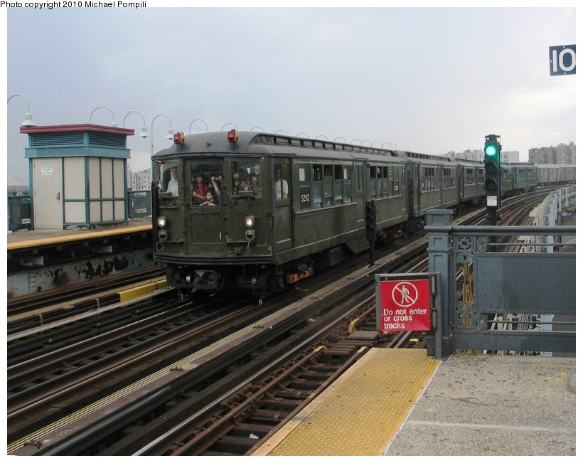 (142k, 820x651)<br><b>Country:</b> United States<br><b>City:</b> New York<br><b>System:</b> New York City Transit<br><b>Line:</b> IRT White Plains Road Line<br><b>Location:</b> West Farms Sq./East Tremont Ave./177th St. <br><b>Route:</b> Fan Trip<br><b>Car:</b> Low-V (Museum Train) 5292 <br><b>Photo by:</b> Michael Pompili<br><b>Date:</b> 6/6/2010<br><b>Viewed (this week/total):</b> 6 / 917