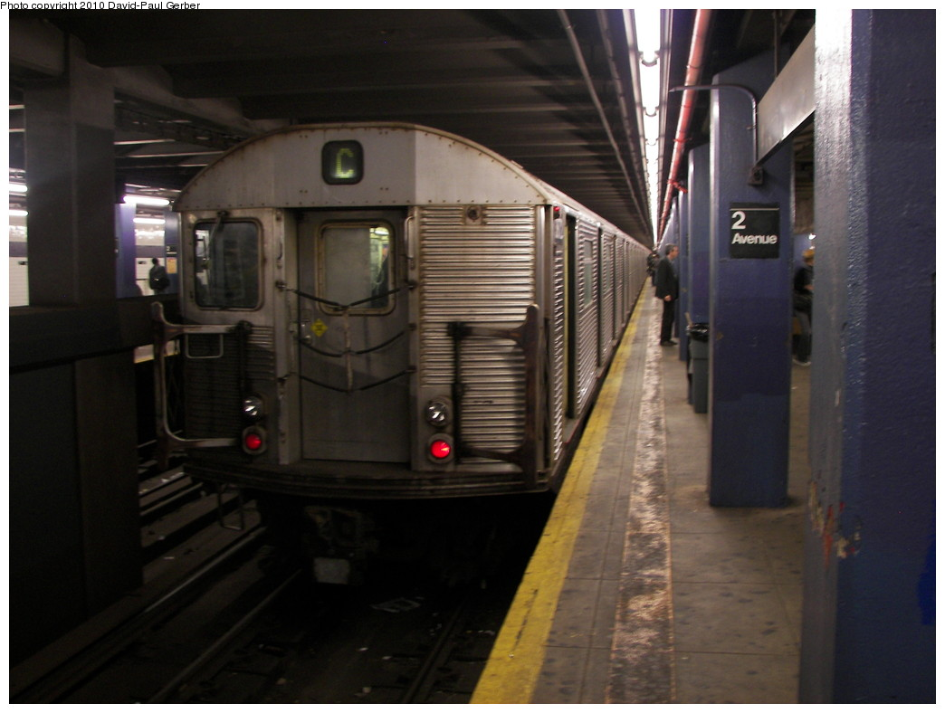 (223k, 1044x788)<br><b>Country:</b> United States<br><b>City:</b> New York<br><b>System:</b> New York City Transit<br><b>Line:</b> IND 6th Avenue Line<br><b>Location:</b> 2nd Avenue <br><b>Route:</b> C reroute<br><b>Car:</b> R-32 (Budd, 1964)  3872 <br><b>Photo by:</b> David-Paul Gerber<br><b>Date:</b> 4/17/2010<br><b>Viewed (this week/total):</b> 6 / 745