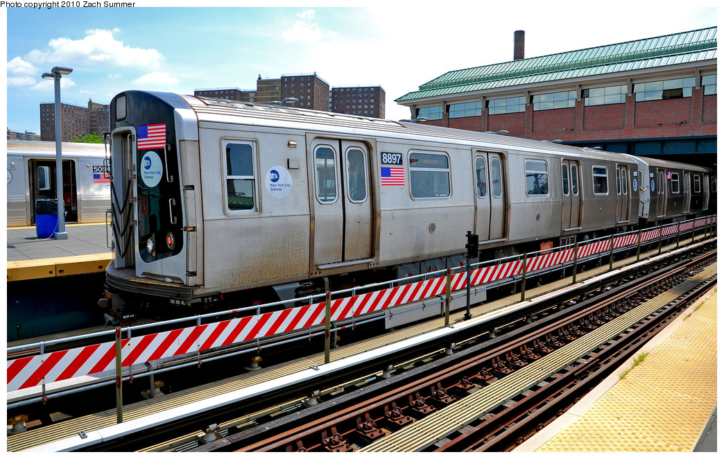 (350k, 1044x662)<br><b>Country:</b> United States<br><b>City:</b> New York<br><b>System:</b> New York City Transit<br><b>Location:</b> Coney Island/Stillwell Avenue<br><b>Route:</b> Q<br><b>Car:</b> R-160B (Kawasaki, 2005-2008)  8897 <br><b>Photo by:</b> Zach Summer<br><b>Date:</b> 6/23/2010<br><b>Viewed (this week/total):</b> 2 / 543