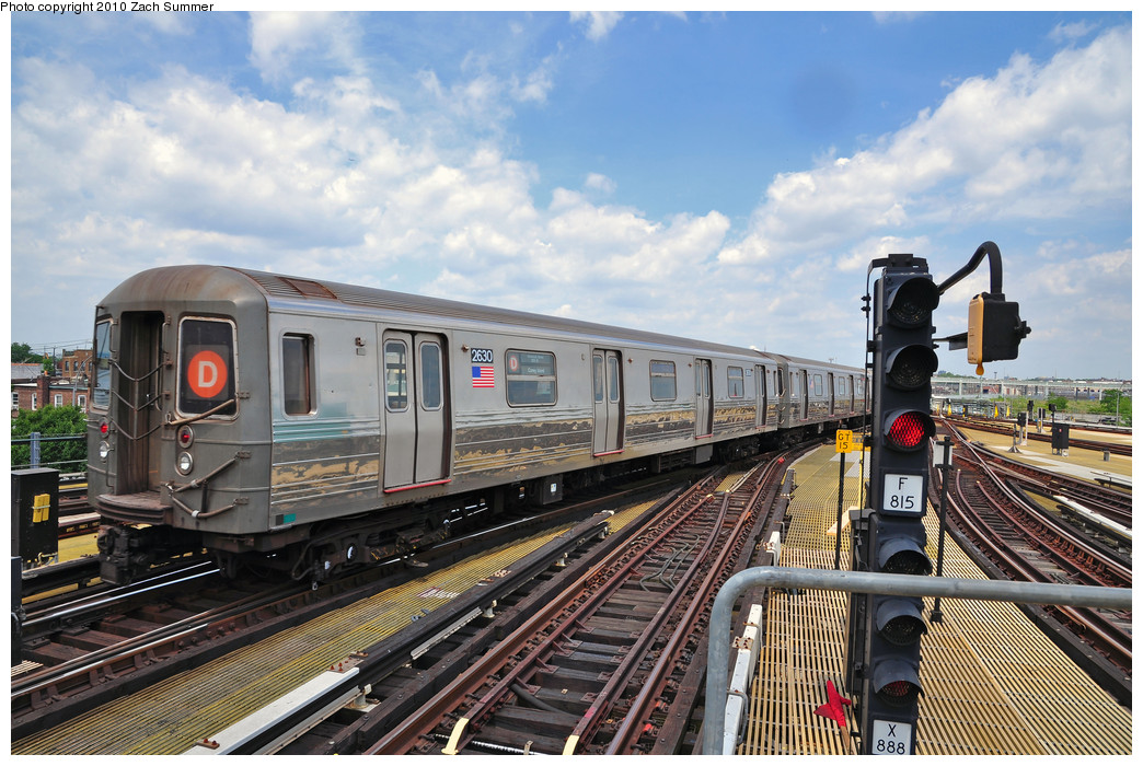 (302k, 1044x700)<br><b>Country:</b> United States<br><b>City:</b> New York<br><b>System:</b> New York City Transit<br><b>Location:</b> Coney Island/Stillwell Avenue<br><b>Route:</b> D<br><b>Car:</b> R-68 (Westinghouse-Amrail, 1986-1988)  2630 <br><b>Photo by:</b> Zach Summer<br><b>Date:</b> 6/23/2010<br><b>Viewed (this week/total):</b> 3 / 682