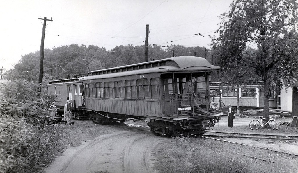 (206k, 1024x596)<br><b>Country:</b> United States<br><b>City:</b> East Haven/Branford, Ct.<br><b>System:</b> Shore Line Trolley Museum <br><b>Car:</b> BMT Elevated Gate Car 197 <br><b>Collection of:</b> George Conrad Collection<br><b>Date:</b> 11/1955<br><b>Viewed (this week/total):</b> 0 / 1469