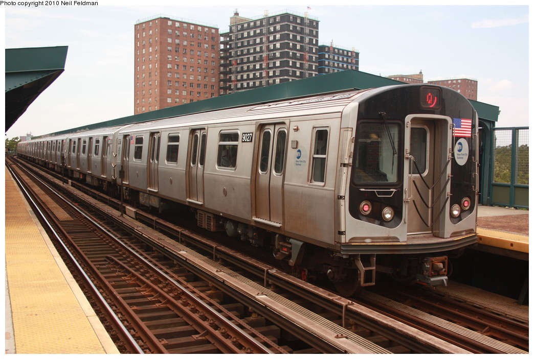 (236k, 1044x703)<br><b>Country:</b> United States<br><b>City:</b> New York<br><b>System:</b> New York City Transit<br><b>Line:</b> BMT Brighton Line<br><b>Location:</b> West 8th Street <br><b>Route:</b> Q<br><b>Car:</b> R-160B (Option 1) (Kawasaki, 2008-2009)  9027 <br><b>Photo by:</b> Neil Feldman<br><b>Date:</b> 6/28/2010<br><b>Viewed (this week/total):</b> 0 / 294