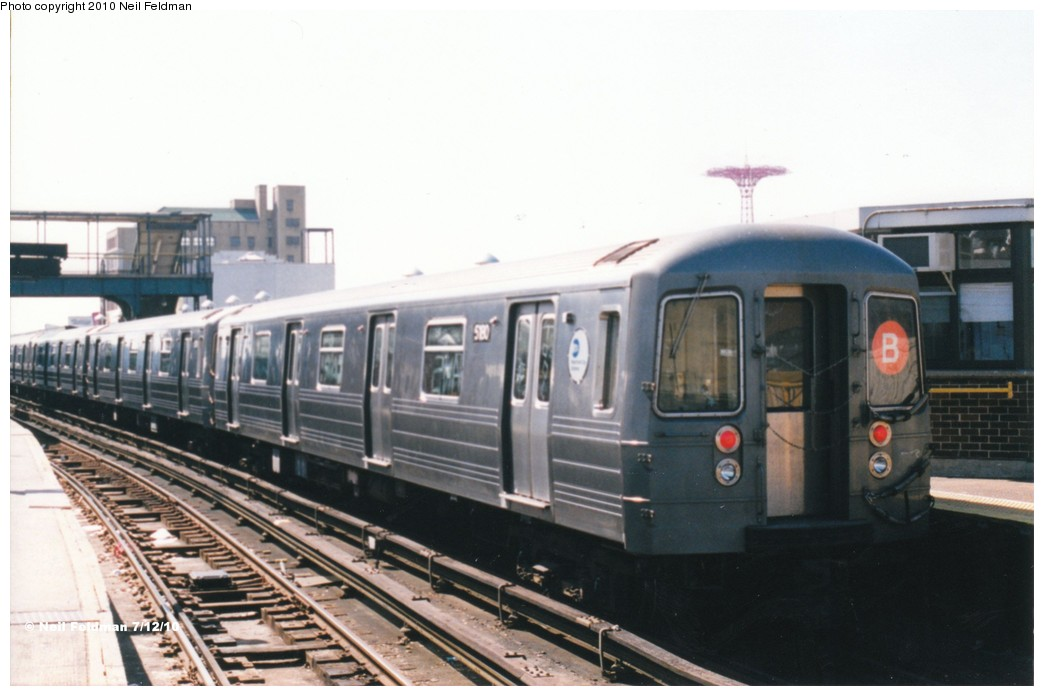 (140k, 1044x696)<br><b>Country:</b> United States<br><b>City:</b> New York<br><b>System:</b> New York City Transit<br><b>Location:</b> Coney Island/Stillwell Avenue<br><b>Route:</b> B<br><b>Car:</b> R-68A (Kawasaki, 1988-1989)  5180 <br><b>Photo by:</b> Neil Feldman<br><b>Date:</b> 1999<br><b>Viewed (this week/total):</b> 0 / 958