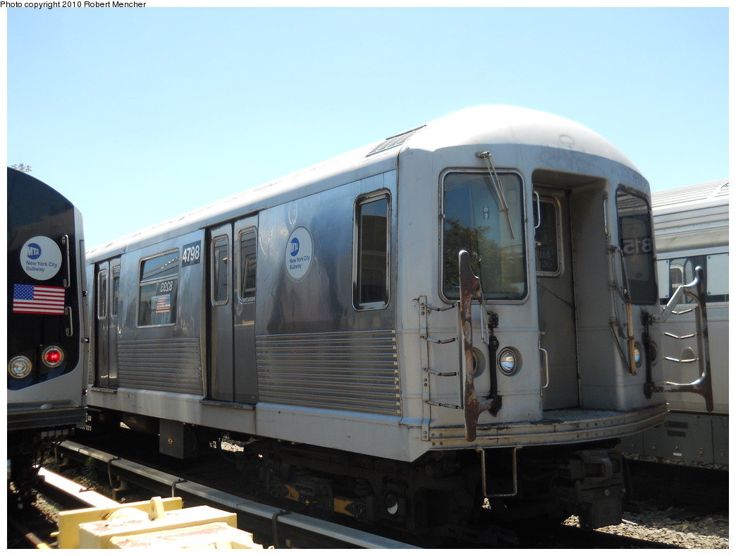 (212k, 1044x788)<br><b>Country:</b> United States<br><b>City:</b> New York<br><b>System:</b> New York City Transit<br><b>Location:</b> East New York Yard/Shops<br><b>Car:</b> R-42 (St. Louis, 1969-1970)  4798 <br><b>Photo by:</b> Robert Mencher<br><b>Date:</b> 7/3/2010<br><b>Viewed (this week/total):</b> 1 / 404