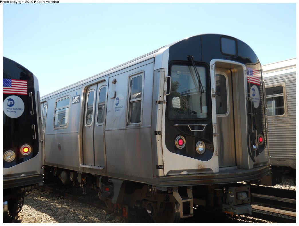 (226k, 1044x788)<br><b>Country:</b> United States<br><b>City:</b> New York<br><b>System:</b> New York City Transit<br><b>Location:</b> East New York Yard/Shops<br><b>Car:</b> R-160A-1 (Alstom, 2005-2008, 4 car sets)  8480 <br><b>Photo by:</b> Robert Mencher<br><b>Date:</b> 7/3/2010<br><b>Viewed (this week/total):</b> 0 / 144
