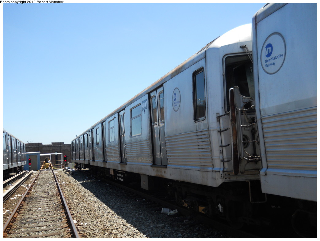 (230k, 1044x788)<br><b>Country:</b> United States<br><b>City:</b> New York<br><b>System:</b> New York City Transit<br><b>Location:</b> East New York Yard/Shops<br><b>Car:</b> R-42 (St. Louis, 1969-1970)  4807 <br><b>Photo by:</b> Robert Mencher<br><b>Date:</b> 7/3/2010<br><b>Viewed (this week/total):</b> 1 / 122