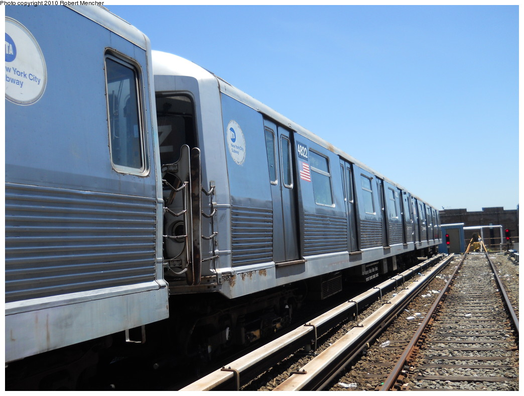 (260k, 1044x788)<br><b>Country:</b> United States<br><b>City:</b> New York<br><b>System:</b> New York City Transit<br><b>Location:</b> East New York Yard/Shops<br><b>Car:</b> R-42 (St. Louis, 1969-1970)  4822 <br><b>Photo by:</b> Robert Mencher<br><b>Date:</b> 7/3/2010<br><b>Viewed (this week/total):</b> 0 / 368