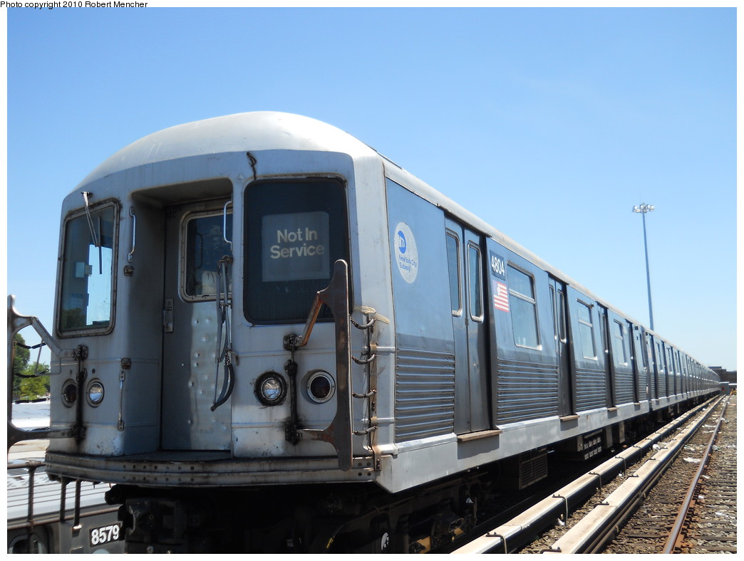(233k, 1044x788)<br><b>Country:</b> United States<br><b>City:</b> New York<br><b>System:</b> New York City Transit<br><b>Location:</b> East New York Yard/Shops<br><b>Car:</b> R-42 (St. Louis, 1969-1970)  4804 <br><b>Photo by:</b> Robert Mencher<br><b>Date:</b> 7/3/2010<br><b>Viewed (this week/total):</b> 0 / 210