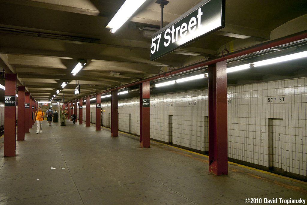 (203k, 1024x683)<br><b>Country:</b> United States<br><b>City:</b> New York<br><b>System:</b> New York City Transit<br><b>Line:</b> IND 6th Avenue Line<br><b>Location:</b> 57th Street <br><b>Photo by:</b> David Tropiansky<br><b>Date:</b> 7/14/2010<br><b>Viewed (this week/total):</b> 4 / 658