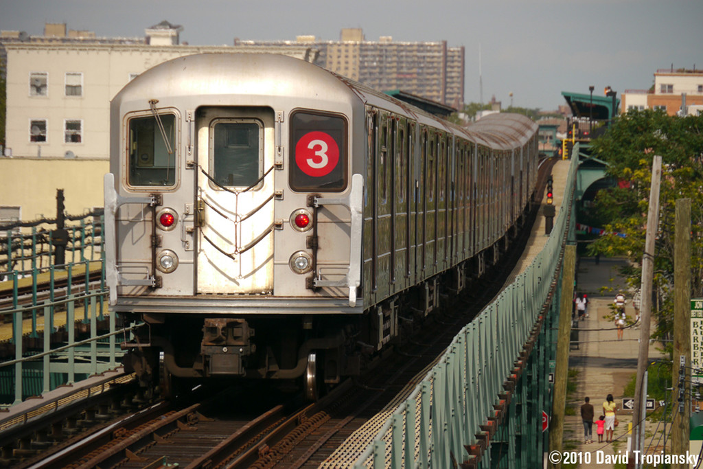 (261k, 1024x683)<br><b>Country:</b> United States<br><b>City:</b> New York<br><b>System:</b> New York City Transit<br><b>Line:</b> IRT Brooklyn Line<br><b>Location:</b> Pennsylvania Avenue <br><b>Route:</b> 3<br><b>Car:</b> R-62 (Kawasaki, 1983-1985)   <br><b>Photo by:</b> David Tropiansky<br><b>Date:</b> 7/15/2010<br><b>Viewed (this week/total):</b> 0 / 613