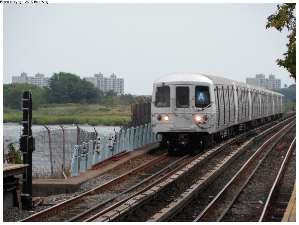 (207k, 1044x788)<br><b>Country:</b> United States<br><b>City:</b> New York<br><b>System:</b> New York City Transit<br><b>Line:</b> IND Rockaway<br><b>Location:</b> Broad Channel <br><b>Route:</b> A<br><b>Car:</b> R-46 (Pullman-Standard, 1974-75)  <br><b>Photo by:</b> Bob Wright<br><b>Date:</b> 8/21/2010<br><b>Viewed (this week/total):</b> 0 / 607