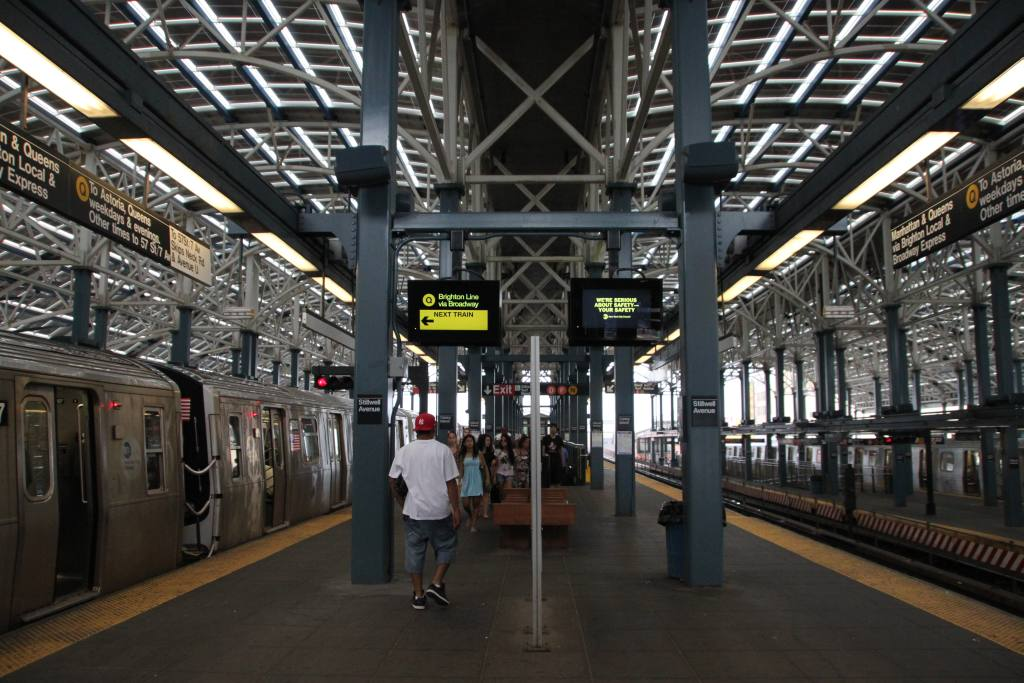(143k, 1024x683)<br><b>Country:</b> United States<br><b>City:</b> New York<br><b>System:</b> New York City Transit<br><b>Location:</b> Coney Island/Stillwell Avenue<br><b>Photo by:</b> Robbie Rosenfeld<br><b>Date:</b> 7/12/2010<br><b>Notes:</b> New departure monitors<br><b>Viewed (this week/total):</b> 0 / 1397