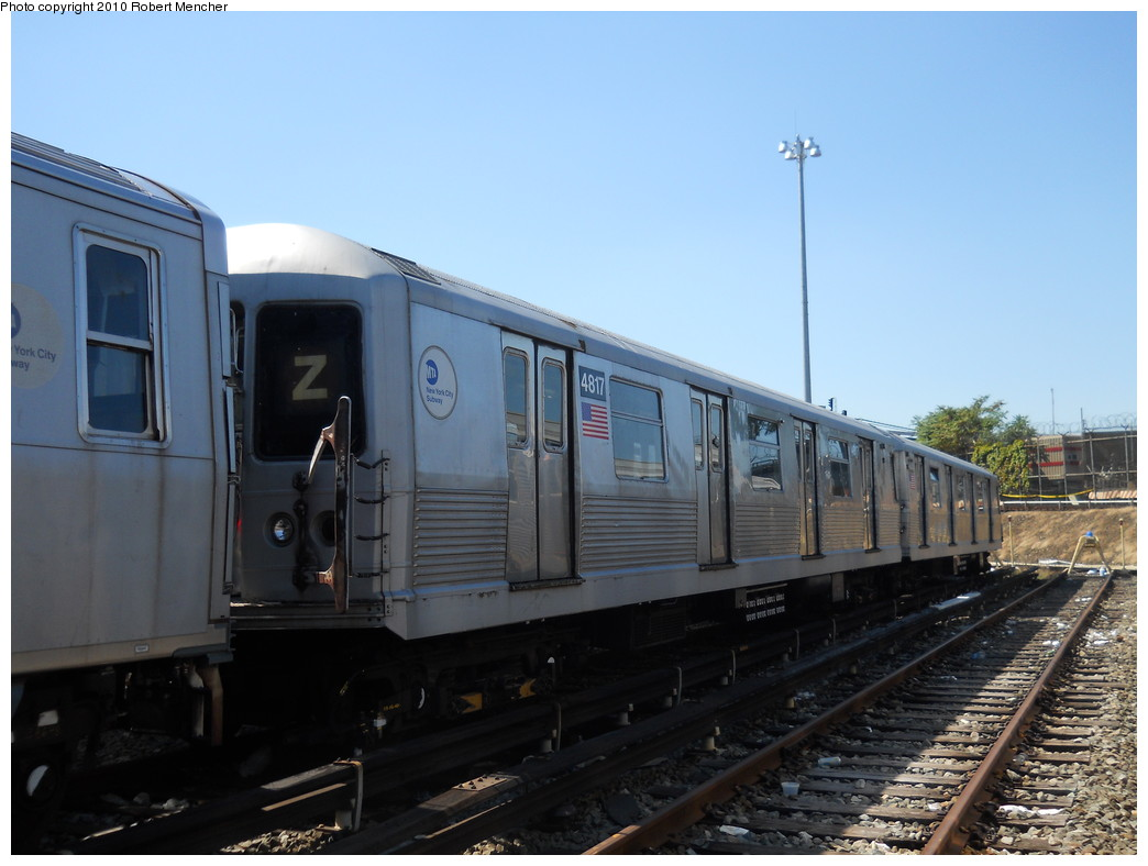 (223k, 1044x788)<br><b>Country:</b> United States<br><b>City:</b> New York<br><b>System:</b> New York City Transit<br><b>Location:</b> East New York Yard/Shops<br><b>Car:</b> R-42 (St. Louis, 1969-1970)  4817 <br><b>Photo by:</b> Robert Mencher<br><b>Date:</b> 8/30/2010<br><b>Viewed (this week/total):</b> 0 / 573