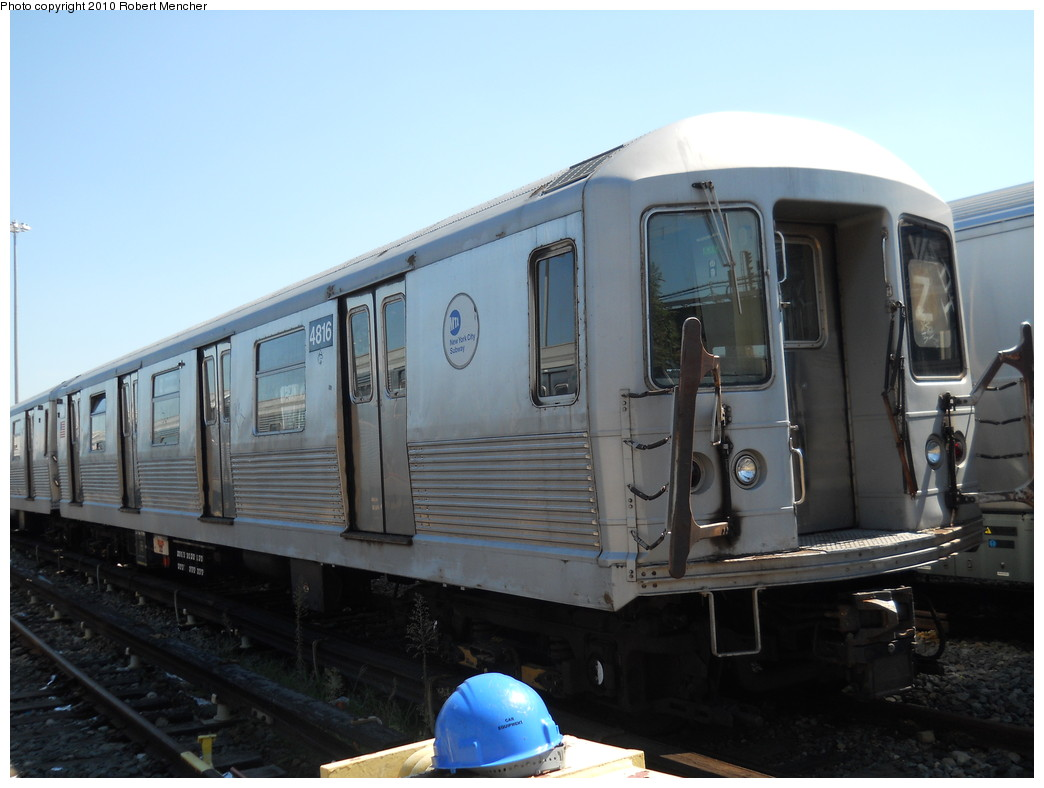 (218k, 1044x788)<br><b>Country:</b> United States<br><b>City:</b> New York<br><b>System:</b> New York City Transit<br><b>Location:</b> East New York Yard/Shops<br><b>Car:</b> R-42 (St. Louis, 1969-1970)  4816 <br><b>Photo by:</b> Robert Mencher<br><b>Date:</b> 8/30/2010<br><b>Viewed (this week/total):</b> 0 / 234