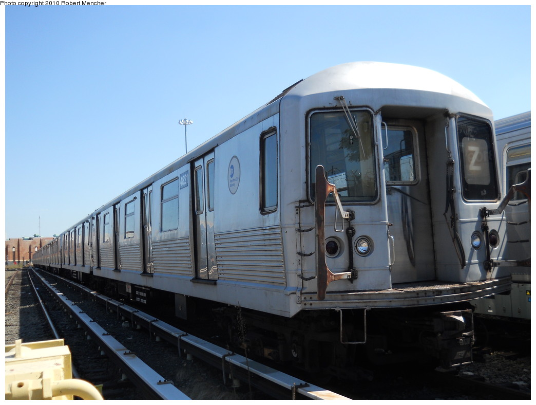 (219k, 1044x788)<br><b>Country:</b> United States<br><b>City:</b> New York<br><b>System:</b> New York City Transit<br><b>Location:</b> East New York Yard/Shops<br><b>Car:</b> R-42 (St. Louis, 1969-1970)  4821 <br><b>Photo by:</b> Robert Mencher<br><b>Date:</b> 8/30/2010<br><b>Viewed (this week/total):</b> 0 / 220