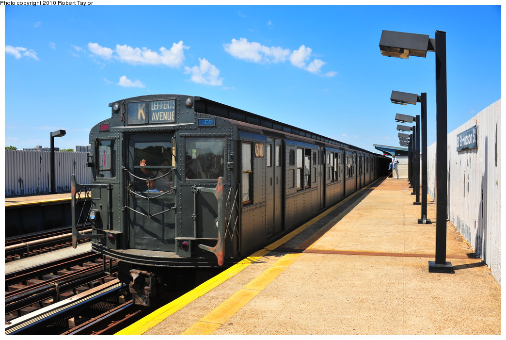 (274k, 1044x701)<br><b>Country:</b> United States<br><b>City:</b> New York<br><b>System:</b> New York City Transit<br><b>Line:</b> IND Fulton Street Line<br><b>Location:</b> 80th Street/Hudson Street <br><b>Route:</b> Fan Trip<br><b>Car:</b> R-6-1 (Pressed Steel, 1936)  1300 <br><b>Photo by:</b> Robert Taylor<br><b>Date:</b> 7/31/2010<br><b>Viewed (this week/total):</b> 5 / 3194