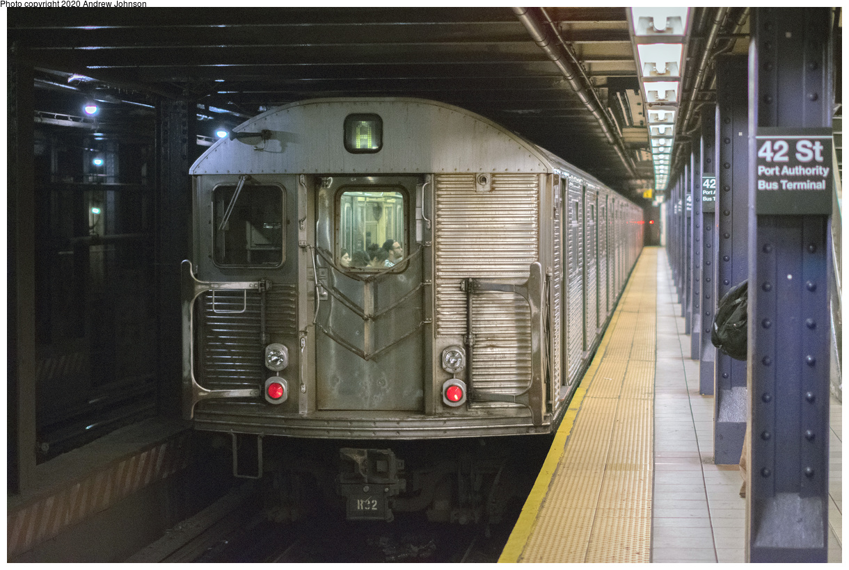 (152k, 1024x809)<br><b>Country:</b> United States<br><b>City:</b> New York<br><b>System:</b> New York City Transit<br><b>Line:</b> BMT Myrtle Avenue Line<br><b>Location:</b> Fresh Pond Road <br><b>Car:</b> BMT Q  <br><b>Collection of:</b> George Conrad Collection<br><b>Date:</b> 4/11/1969<br><b>Notes:</b> With R9 1650<br><b>Viewed (this week/total):</b> 2 / 711